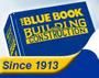 Blue Book Building Construction Logo